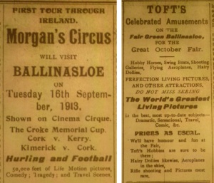 Cirque and Tofts Ballinasloe 1913