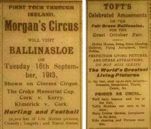 Cirque and Tofts Ballinasloe 1913