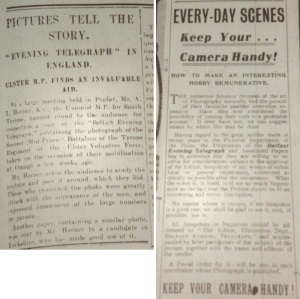 Belfast Telegraph 9 Mar. 1914: 5 and 6 Mar. 1914: 2.