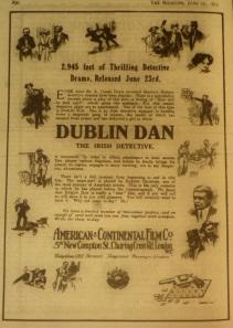 Bioscope ad for Solax's Dublin Dan (12 Jun. 1913: 830).