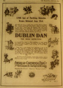 Bioscope ad for Solax's Dublin Dan (12 Jun. 1913: 830).