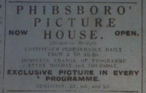 Advertisement for the newly opened Phibsboro Picture House, Dublin Evening Mail, 23 May 1914.