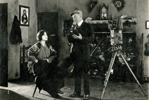 Valentine Grant and Sidney Olcott posing for a publicity still during the shooting of their 1914 Irish films. http://irishamerica.com/wp-content/uploads/2011/12/19_Grant_Olcott.jpg