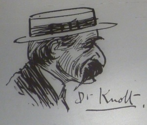 Film lover Dr Knott. Holloway Diaries.Aug. 1914