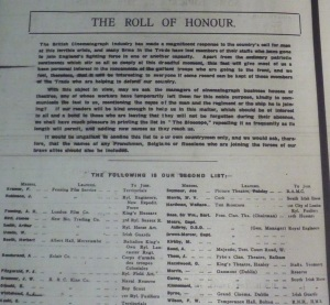 Roll of Honour 1