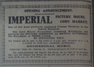 Belfast Evening Telegraph 5 Dec. 1914: 2.