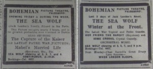 The Bohemian Picture Theatre showed Mabel's Married Life in the first three days of the week beginning 30 Nov. 1914 and Her Friend the Bandit for the last three days of that week. Evening Telegraph 30 Nov. and 3 Dec. 1914.