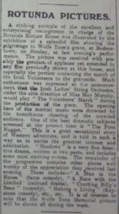 This review of the programme at the Rotunda Pictures gives a good indication of where comedies featured in the priorities of newspaper reviewers. Evening Telegraph 23 Jun. 1914: 2.
