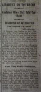 """""""Atrocities on the Cinema."""" Dublin Evening Mail 27 Mar. 1915: 5."""