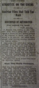 """Atrocities on the Cinema."" Dublin Evening Mail 27 Mar. 1915: 5."