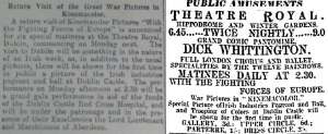 Kinemacolor exhibition at The Theatre RoyalIrish Times 9 Feb. 1915: 4