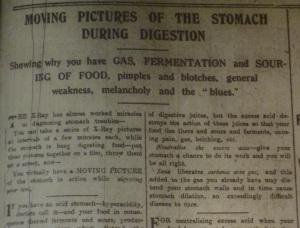 Stomach film DEM 24 Mar 1915
