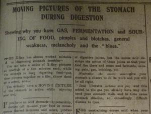 Stomach film DEM 24 Mar 1915