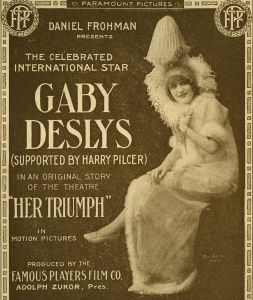 Poster for Gaby Deslys in Her Triumph (US: Famous Players, 1915)