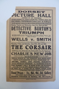 Handbill for Dorset Picture Hall, 4-19 Jun. 1915. Courtesy of National Library of Ireland.