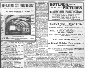 August bank holiday offerings by Dublin's picture houses; Evening Telegraph 31 Jul. 1915: 3.