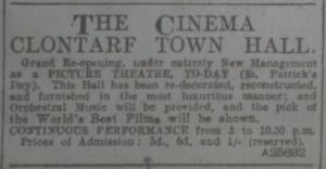 Clontarf reopens 17 Mar 1916 ET
