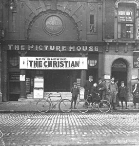 A photograph of the Picture House, Sackville/O'Connell Street taken during the week of 8-13 May. Image from RTÉ Archives on Twitter bit.ly/1bFWG0U