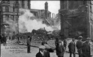 Dublin's smoking ruins. Image from Come Here to Me.