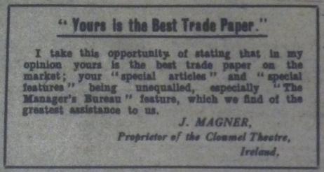 """Trade Topics."" Bioscope 1 Jun. 1916: 958"