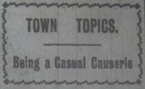 Town Topics June 1916