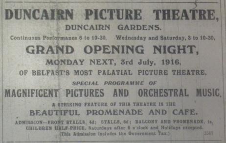 Duncairn opens BN 1 Jul 1916