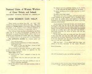 Leaflet issued by the National Union of Women Workers of Great Britain and Ireland. Available at Century Ireland.