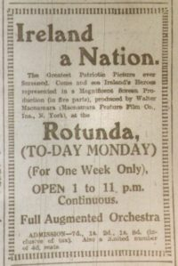 Ad for Ireland a Nation; Dublin Evening Mail, 8 Jan. 1917: 2.