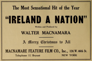 Ad for Ireland a Nation in New York and Chicago-based Motography 26 Dec. 1914: 22.