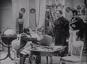 Framegrab from Ireland a Nation, in which Irish revolutionary Robert Emmet (Barry O'Brien) is astonished by the help Napoleon agrees to send for an uprising in Ireland.