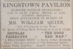 Kingstown Pav DEM 6 Aug 1917