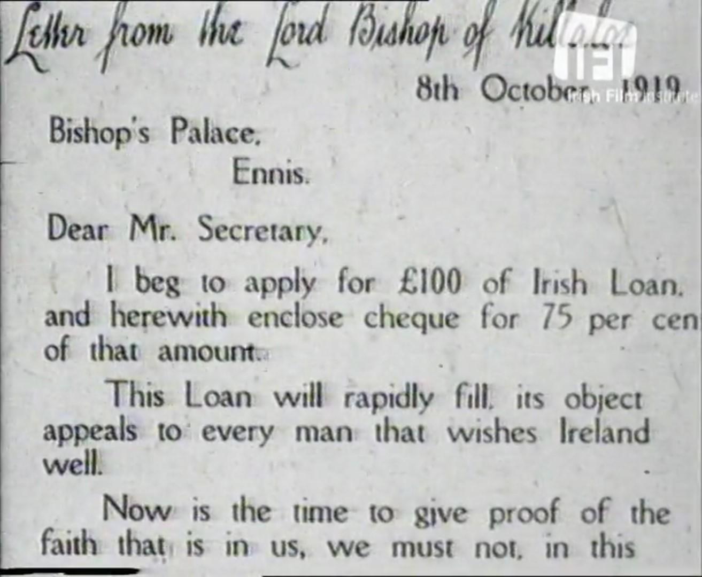 Dail Bonds Fogarty Letter 1