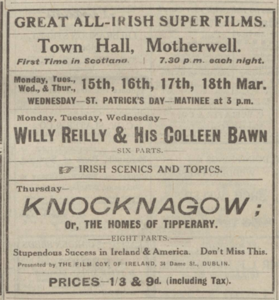 Willy Reilly Motherwell Times 12 Mar 1920p1